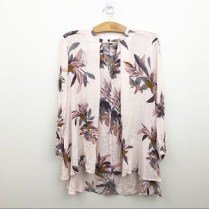 FREE PEOPLE Floral Swing Tunic Top